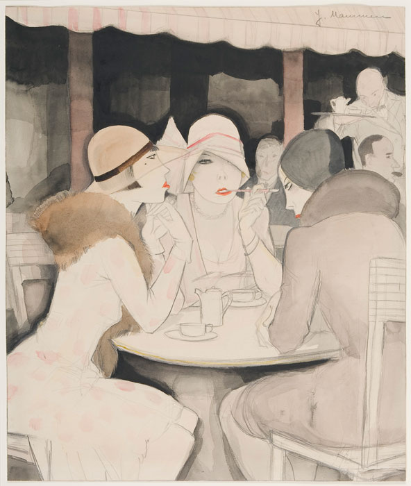 Jeanne Mammen (German 1896 1976) Karneval (Carnival), c.1931, Watercolor and pencil on paper Des Moines Art Center Permanent Collections Gift of Dr Joseph H Seipp Baltimore MD 1974 94